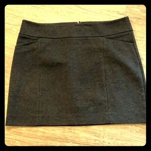 WHBM Grey Mini Skirt